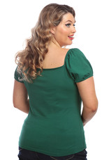 Collectif Collectif 1950s Dolores T-shirt Green