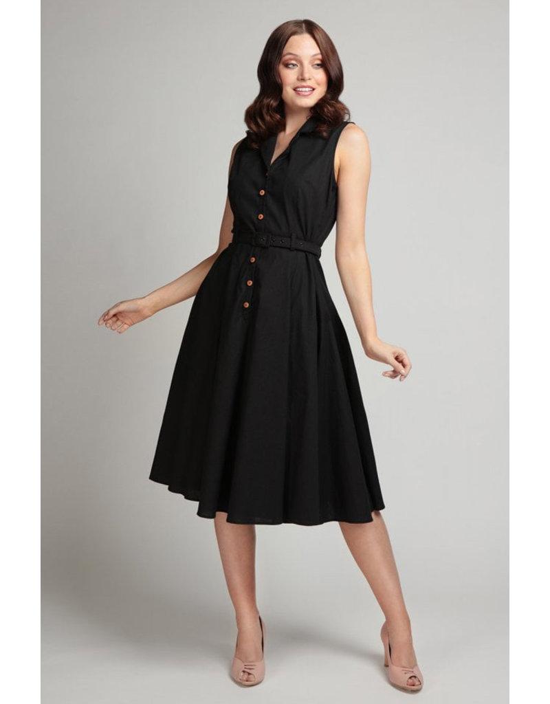 Collectif Collectif Caterina Sleeveless Swing Dress Black