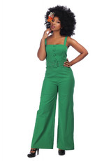 Collectif Collectif 1950s Olympia Jumpsuit Green
