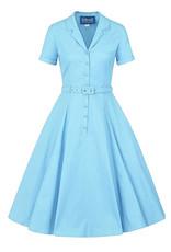 Collectif Collectif 1950s Caterina Dress Light Blue