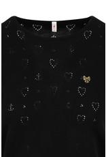 Blutsgeschwister Blutsgeschwister 40s Pointelle Heart Shirt Black