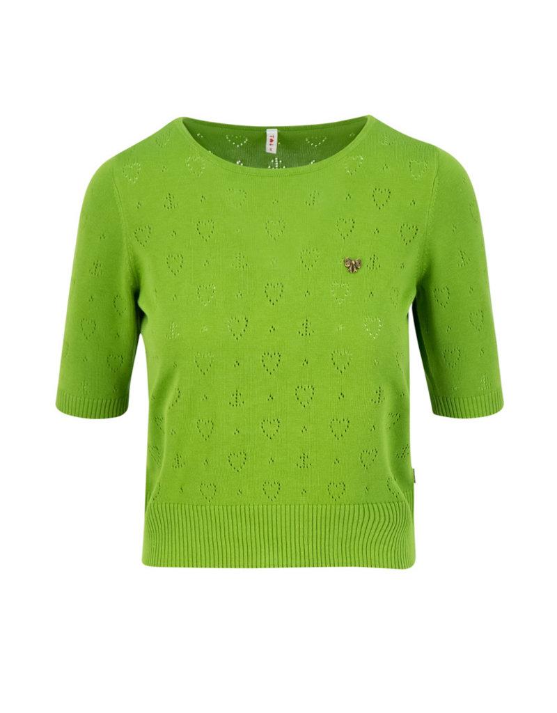 Blutsgeschwister Blutsgeschwister 40s Pointelle Heart Shirt Olive