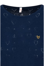 Blutsgeschwister Blutsgeschwister 40s Pointelle Heart Shirt Dark Blue