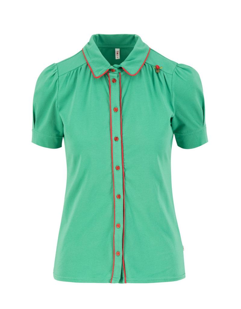 Blutsgeschwister Blutsgeschwister 1940s Buttons Blouse Green