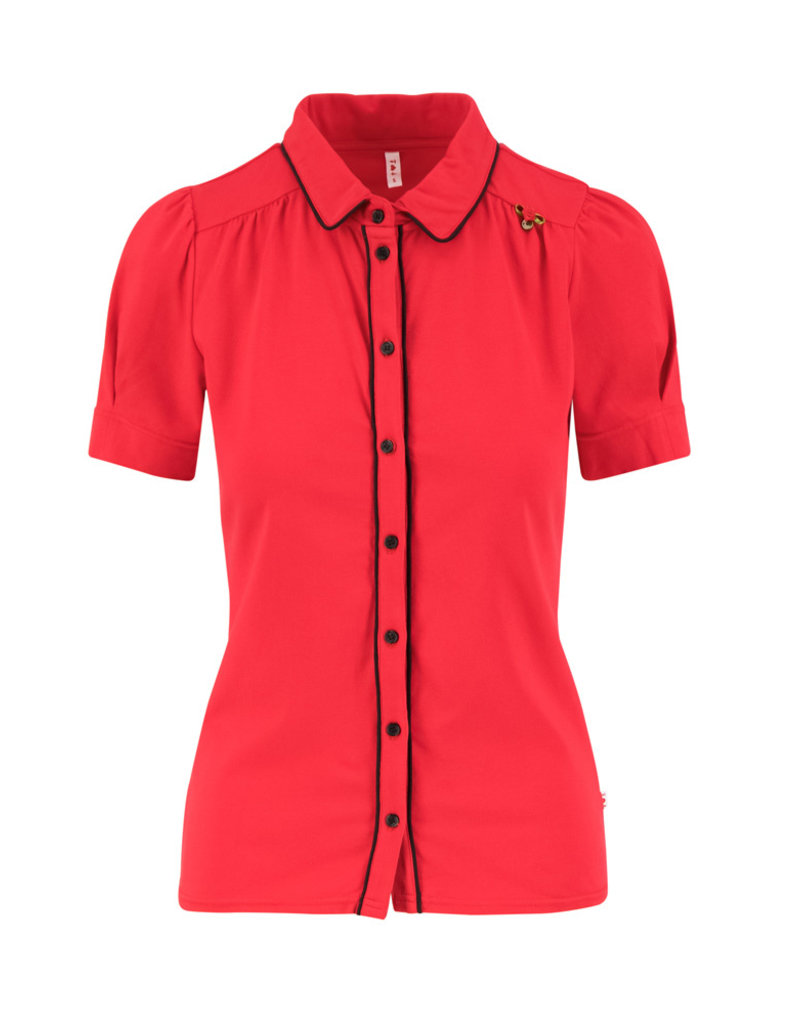Blutsgeschwister Blutsgeschwister 1940s Buttons Blouse Red
