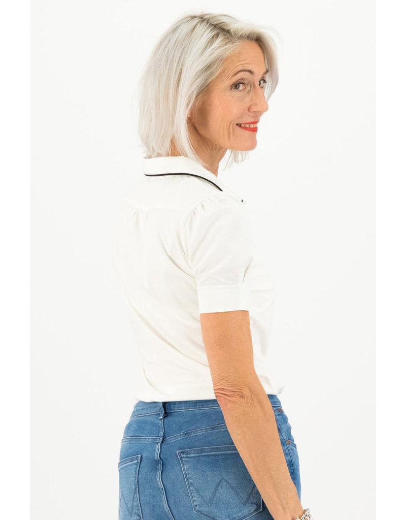 Blutsgeschwister Blutsgeschwister 1940s Buttons Blouse White