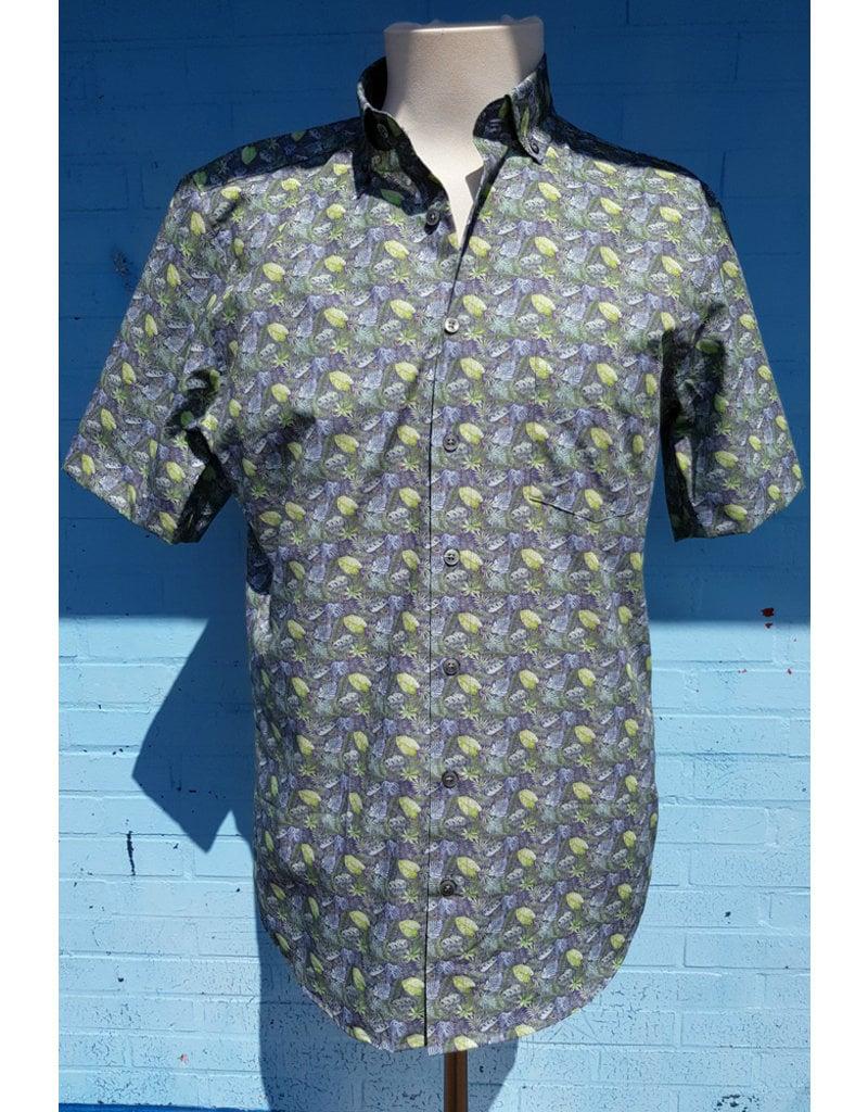 Haupt Haupt Tropical Jungle Short Sleeve Mens Shirt