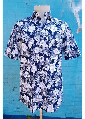 Haupt Haupt Tropical Hibiscus Short Sleeve Mens Shirt