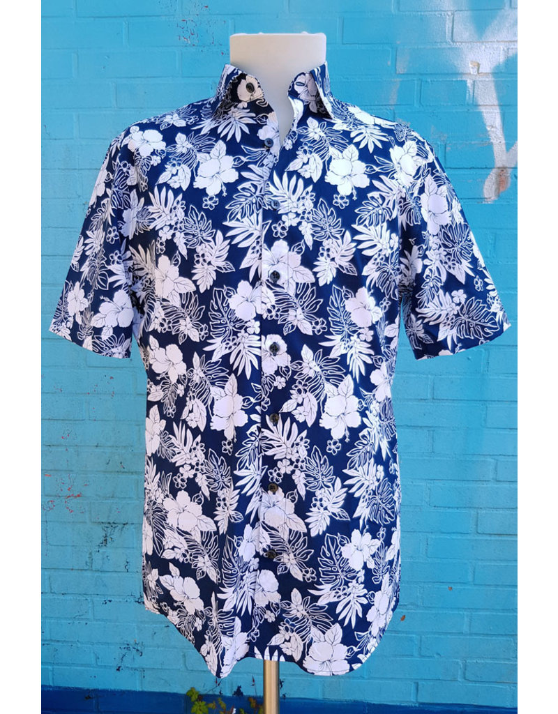 Haupt Haupt Tropical Hibiscus Short Sleeve Mens Shirt