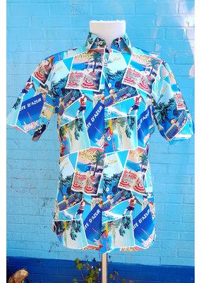 Haupt Haupt Summer Cote D'azur Short Sleeve Mens Shirt