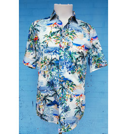 Haupt Haupt Tropical Island Short Sleeve Mens Shirt