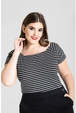 Hell Bunny PRE ORDER Hell Bunny Verity Top Black White