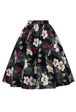 Hell Bunny SPECIAL ORDER Hell Bunny Tahiti 50s Skirt Black
