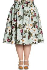 Hell Bunny PRE ORDER Hell Bunny Tahiti 50s Skirt Green