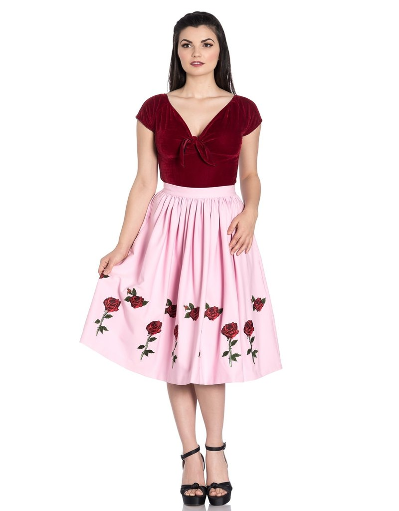 Hell Bunny Hell Bunny 1950s Rosa Rossa Skirt Pink