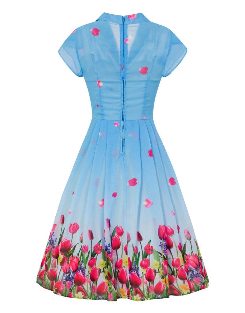 Hell Bunny Hell Bunny 1940s Bethany Chiffon Dress