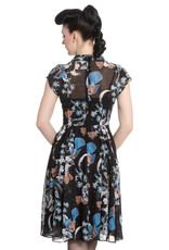 Hell Bunny Hell Bunny 1940s Starry Nights Chiffon Dress