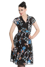 Hell Bunny PRE ORDER Hell Bunny 1940s Starry Nights Chiffon Dress