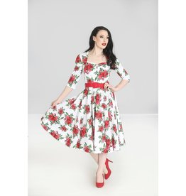 Hell Bunny PRE ORDER Hell Bunny Eternity Roses Dress White