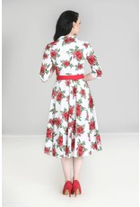 Hell Bunny PRE ORDER Hell Bunny 1950s Eternity Roses Dress White