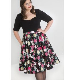 Hell Bunny PRE ORDER Hell Bunny 1950s Queen of Hearts Skirt