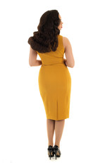 Hearts and Roses Hearts & Roses 1950s Margo Mustard Wiggle Dress