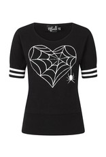 Hell Bunny PRE ORDER Hell Bunny Charlotte Spider Knitted Top