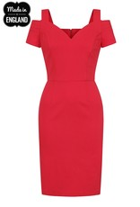 Hell Bunny SPECIAL ORDER Hell Bunny 1950s Helena Pencil Dress Red