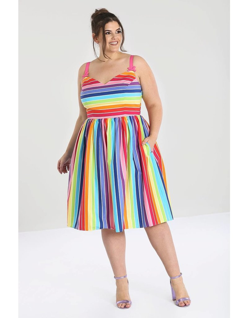 Hell Bunny SPECIAL ORDER Hell Bunny 50s Over The Rainbow Dress