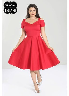 Hell Bunny Hell Bunny Helen 50s Dress Red