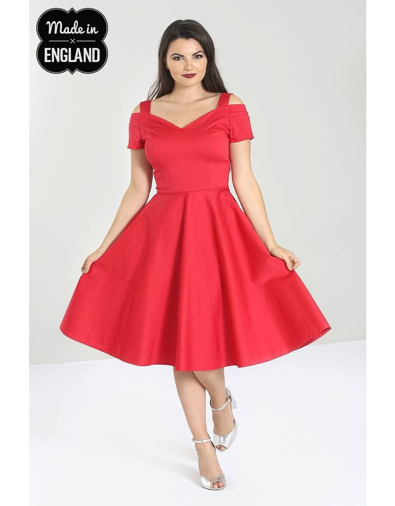 Hell Bunny PRE ORDER Hell Bunny Helen 50s Dress Red