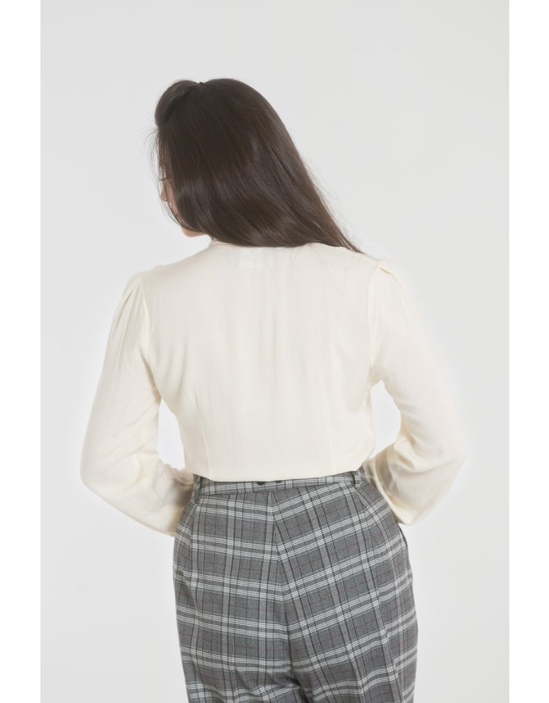 Hell Bunny PRE ORDER Hell Bunny Adelia Blouse Ivory