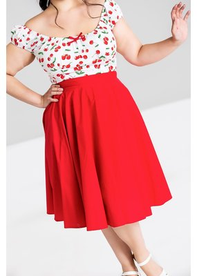 Hell Bunny PRE ORDER Hell Bunny Paula Swing Skirt Red