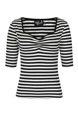 Hell Bunny PRE ORDER Hell Bunny Warlock Top Black White