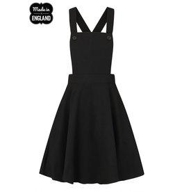 Hell Bunny SPECIAL ORDER Hell Bunny Amelie Pinafore Dress Black