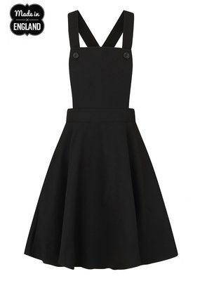 Hell Bunny PRE ORDER Hell Bunny Amelie Pinafore Dress Black