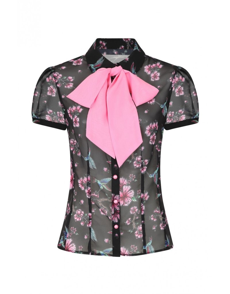 Hell Bunny PRE ORDER Hell Bunny Madison Chiffon Blouse