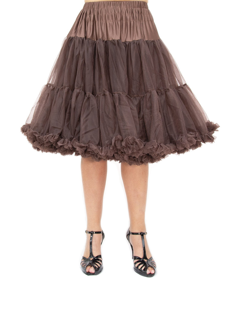 Banned PRE ORDER Banned Starlite Petticoat Chocolate Brown 23'