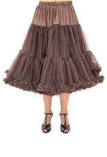 Banned PRE ORDER Banned Lifeform Petticoat Chocolate Brown 27'