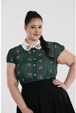 Hell Bunny PRE ORDER Hell Bunny Beth Candy Cane Blouse