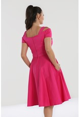 Hell Bunny SPECIAL ORDER Hell Bunny Helen 50s Dress Hot Pink
