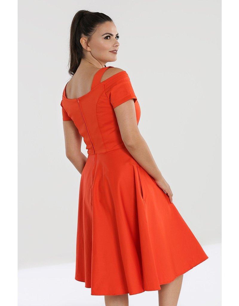 Hell Bunny SPECIAL ORDER Hell Bunny Helen 50s Dress Orange