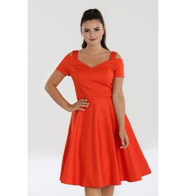 Hell Bunny SPECIAL ORDER Hell Bunny Helen 50s Dress Orange