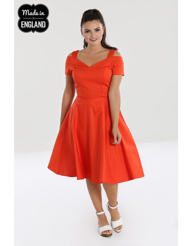 Hell Bunny PRE ORDER Hell Bunny Helen 50s Dress Orange