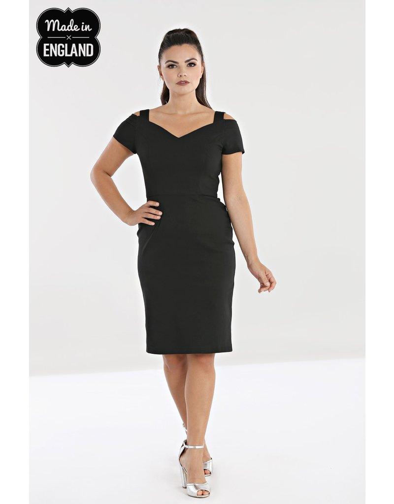 Hell Bunny PRE ORDER Hell Bunny 1950s Helena Pencil Dress Black
