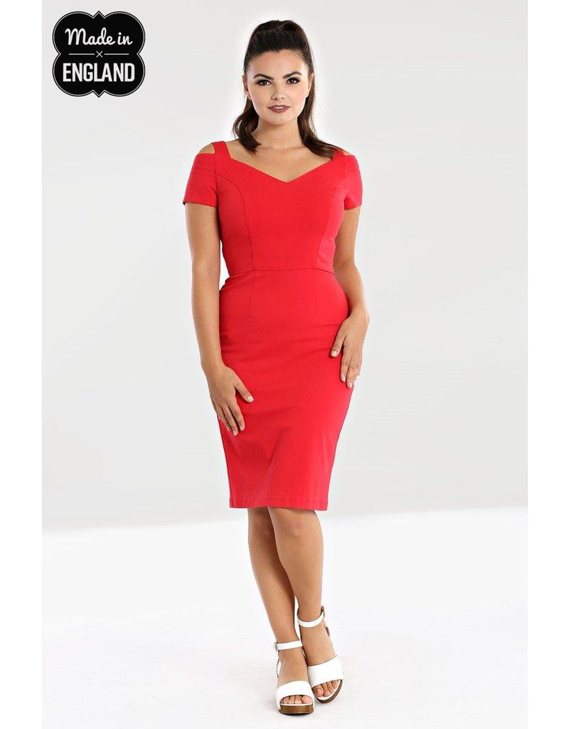 Hell Bunny Hell Bunny 1950s Helena Pencil Dress Red