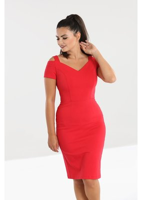 Hell Bunny Hell Bunny 1950s Helena Pencil Dress Red