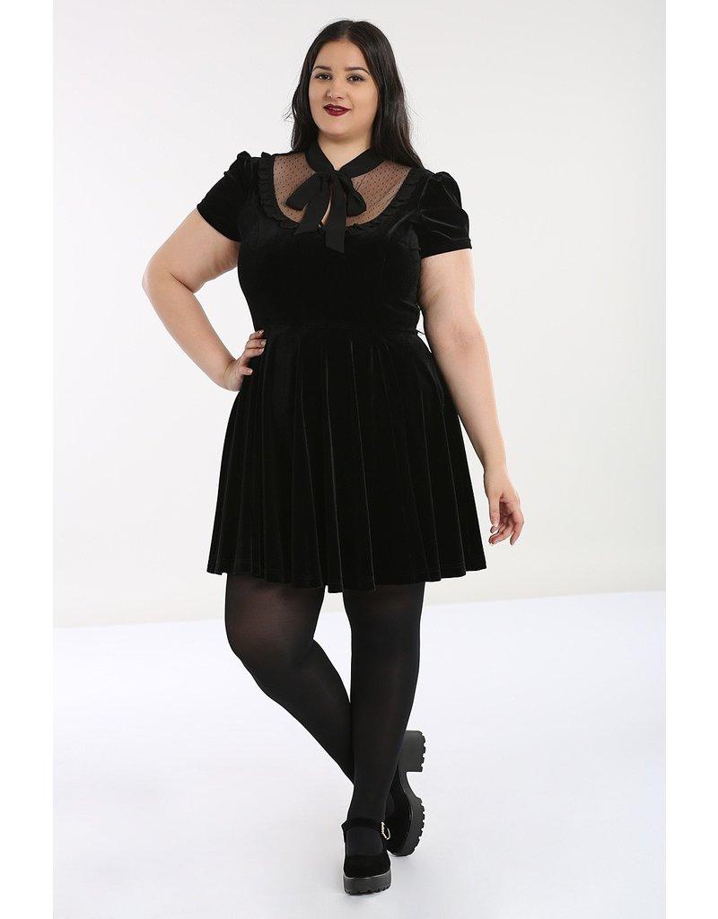 Hell Bunny PRE ORDER Hell Bunny Nova Velvet Mini Dress