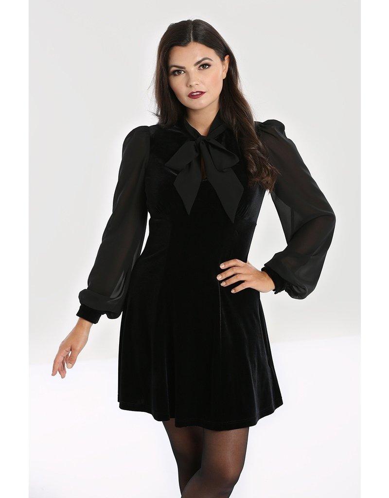 Hell Bunny PRE ORDER Hell Bunny Gabriella Velvet Mini Dress