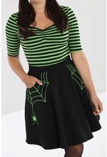 Hell Bunny PRE ORDER Hell Bunny Miss Muffet Mini Skirt Green